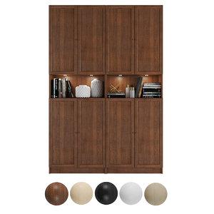 3D bookcase billy oxberg doors