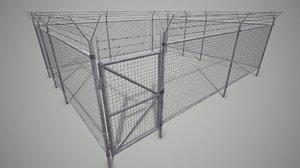 3D model fence rabitz