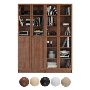 3D billy oxberg bookcase model