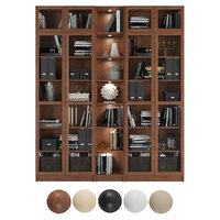 Billy / Oxberg Bookcase with panel/glass doors. Combination-5