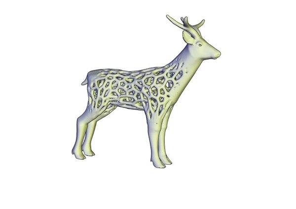 3D printable deer voronoi