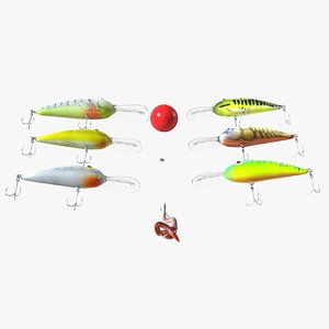 3D fishing lure bass