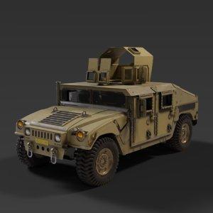 humvee interior 3D model