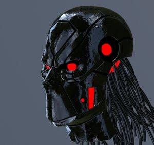 robot face 3D model