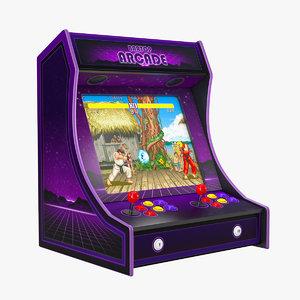 3D bartop arcade machine