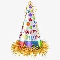 party hat happy birthday 3D model