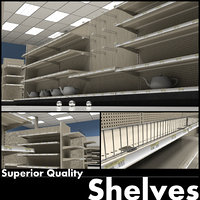 3D store shelving environment model