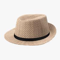 3D realistic straw hat