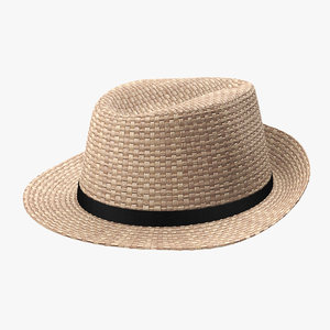 3D realistic straw hat