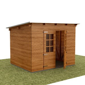 garden tool house shed 3D