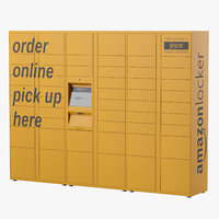 3D amazon parcels locker