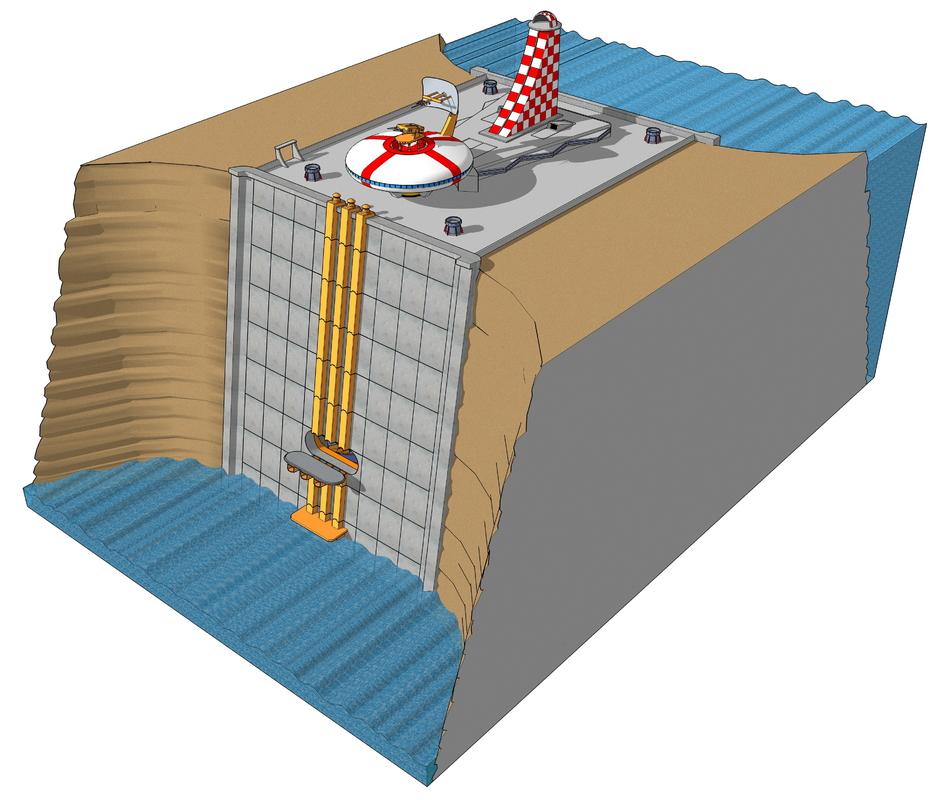 research center 3D model