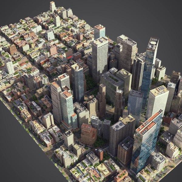 city exterior streets model