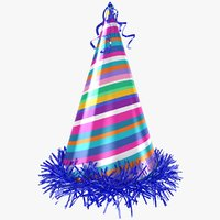 3D party hat rainbow model