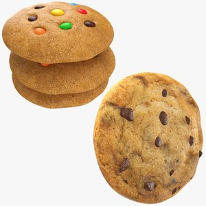 cookies modeled 3D model