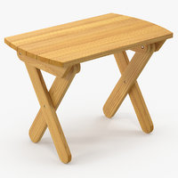 wooden table wood 3D
