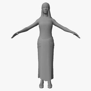 egyptian character female 3D model