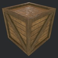 Wooden Crate PBR
