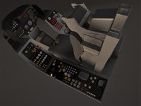 AIRFIGHTER COCKPIT - HIGH POLY MODEL