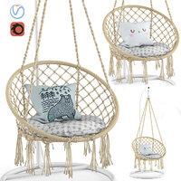 3D ohuhu hanging hammock swing model