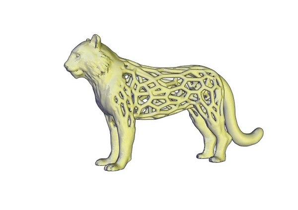 tiger voronoi 3D model