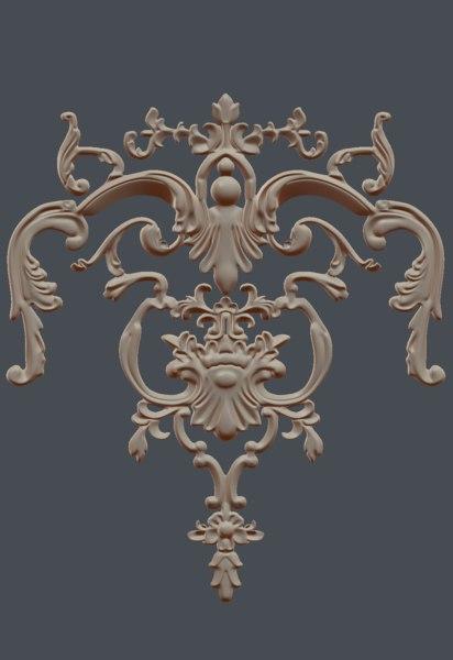 gothic art wall 3D model