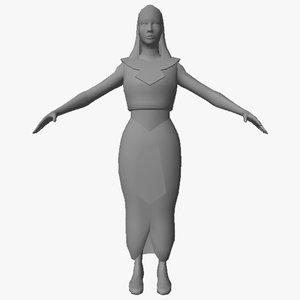 egyptian character female 06 3D