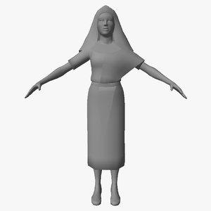 3D egyptian character female 03 model