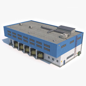 industrial building 18 3D