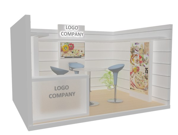 3D model stand exhibition booth