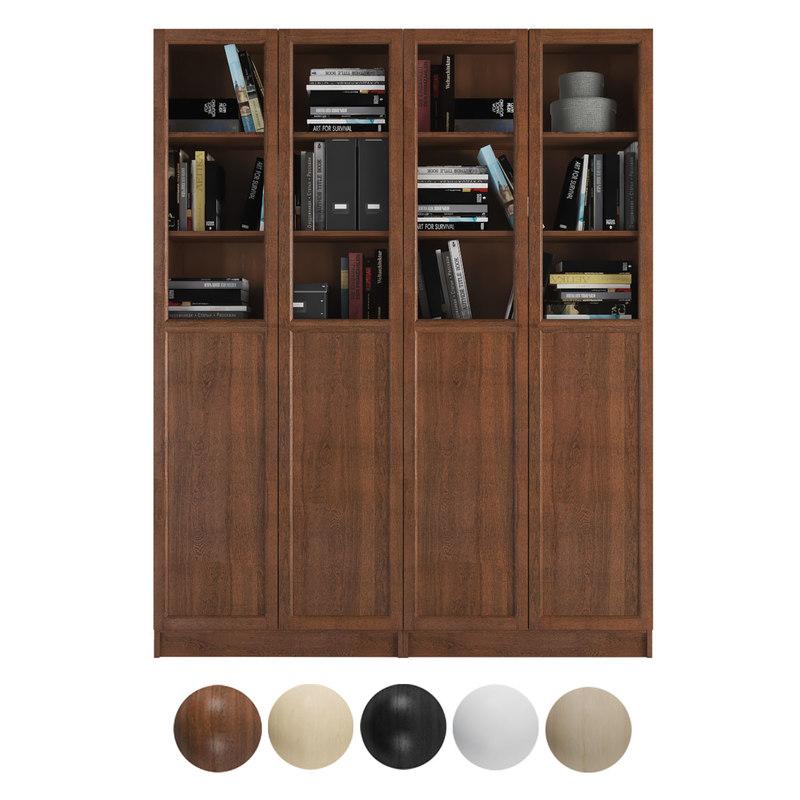 Libreria Ikea Con Ante In Vetro.Libreria Ikea Billy Oxberg Con Ante A Pannello Vetro Combinazione 1