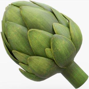artichoke vegetable food model
