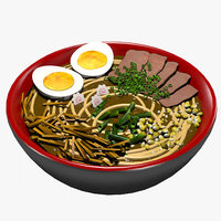japanese food ramen 3D model