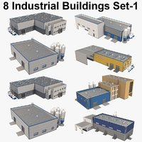 8 Industrial Buildings Set 01