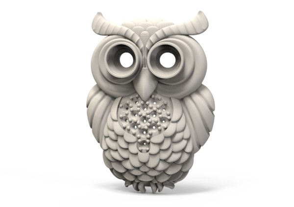 3D owl jewellery decor model