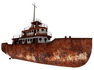 old abandoned ship 3D model