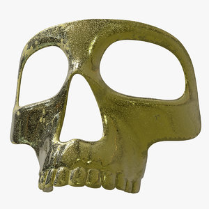 3D golden mask skelet