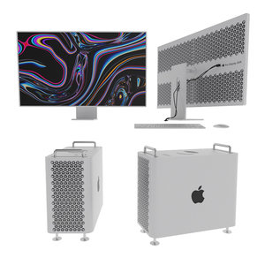 3D model apple mac pro display