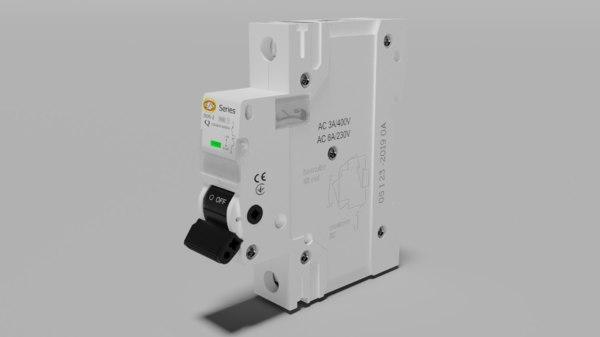 electric miniature circuit 3D