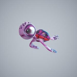 3D model turtle cute