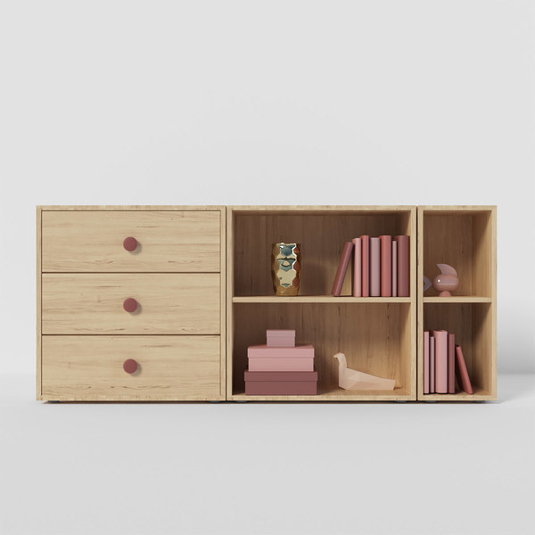 popsicle chest furniture cherry 3D model