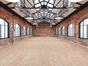 loft office interior modeled 3D model