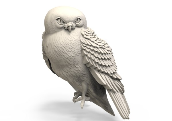 3D sculpture owl model