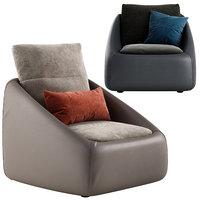 bend armchair 3D model