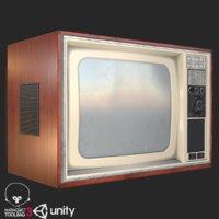 retro television 1980s model