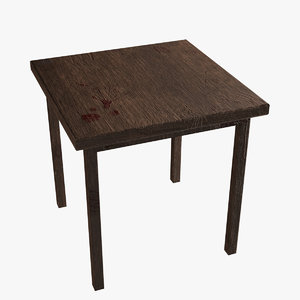 3D model wooden table