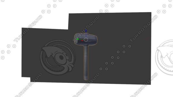 sword hammer spear model