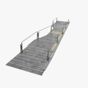 scifi railing walkway 3D model