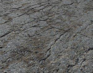 Old asphalt road PBR