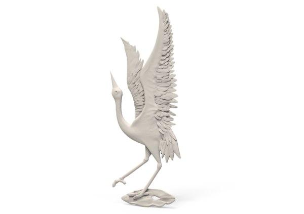 3D relief stork model